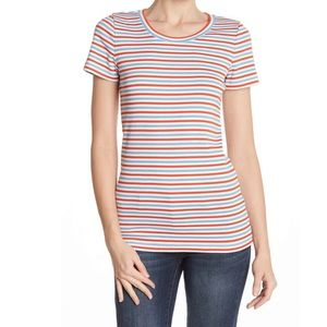 New..! J Crew L Knit Top Perfect Fit Tee Stripes